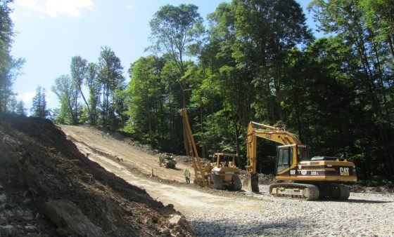 Workers build a new pipeline in Susquehanna County, Pa.