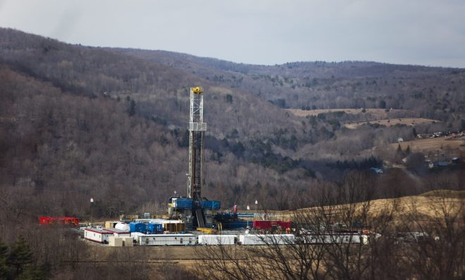 A gas drill rig near Montrose.