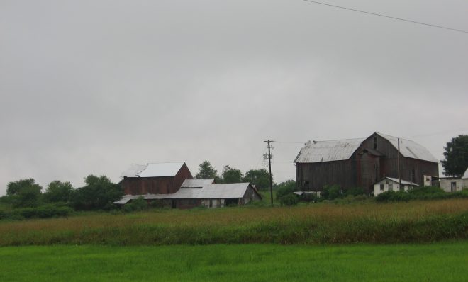 A farm in Wayne County sits on top of the Marcellus Shale formation. Drilling has not begun in the area of the state that drains into the Delaware River because the Delaware River Basin Commission has not allowed it.