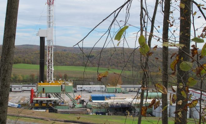 A natural gas drilling site in Susquehanna County.