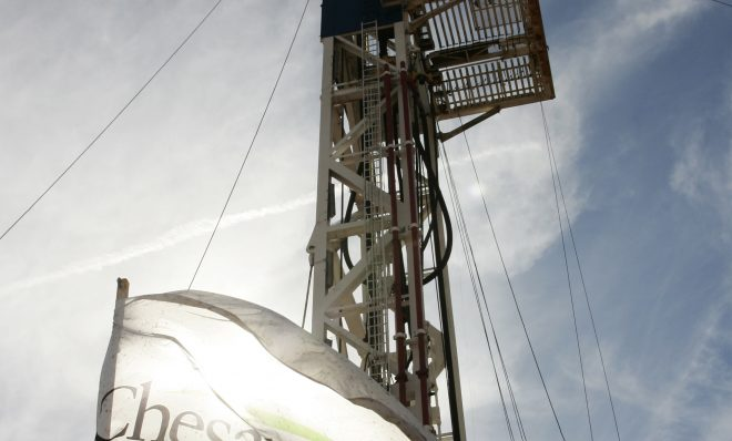 A Chesapeake Energy rig in Oklahoma.