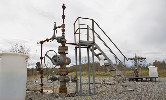 Natural gas wells in Springville Township, Pa.