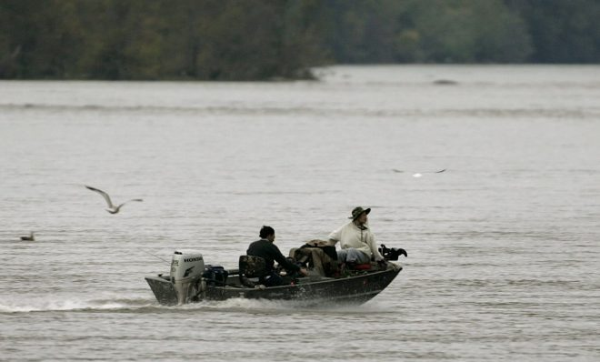 Fisherman on the Susquehanna River. It supplies half the freshwater flowing into the Chesapeake Bay.