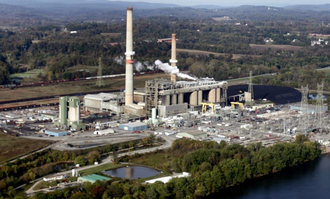 The Brunner Island coal-fired plant located on the west bank of Susquehanna River.