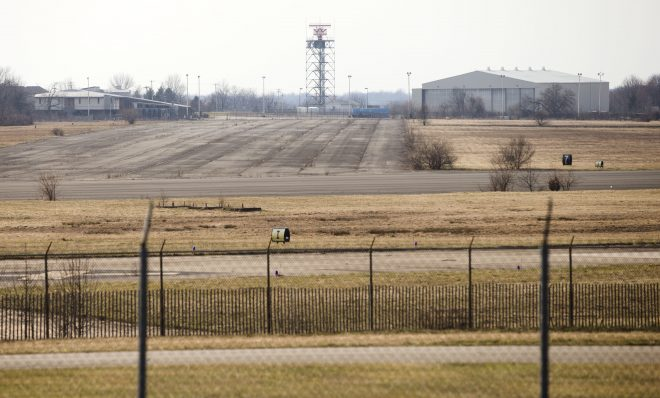The former Naval Air Station Joint Reserve Base Willow Grove and present day Horsham Air Guard Station is shown Thursday, March 10, 2016, in Horsham, Pa.