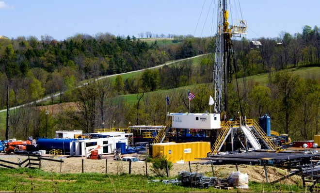 FILE: A Chesapeake Energy natural gas well site in Bradford County, Pa.