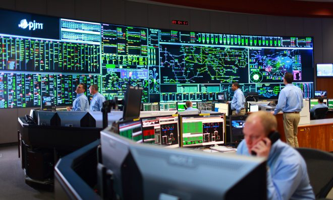 A view of the PJM  control room.