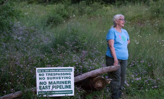 Ellen Gerhart has been battling with Sunoco Logistics over the construction of the Mariner East 2 pipeline on their property in Huntingdon County, Pennsylvania.