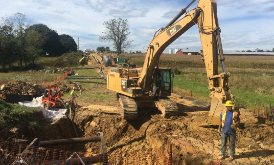 A Mariner East 2 construction site in rural Pennsylvania. The Public Utility Commission lifted a ban  on construction of a valve, removing one obstacle to completion of the troubled project.