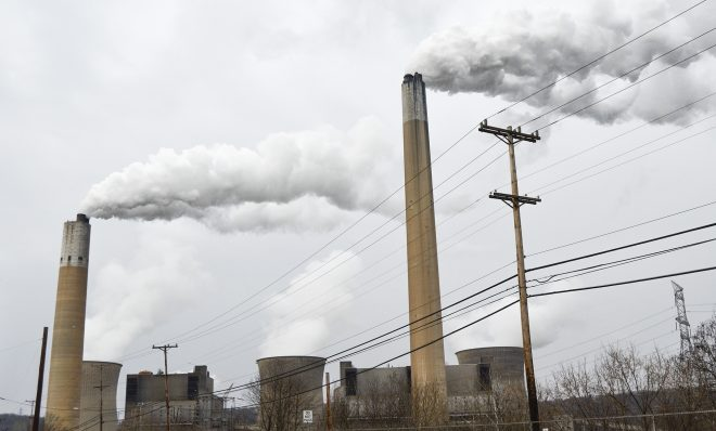 "The Bruce Mansfield Power Plant burns coal to generate electricity in Beaver County. The plant shut down in 2019 because of ""a lack of economic viability in current market conditions."""