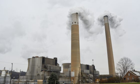 The Bruce Mansfield Power Plant burns coal to generate electricity in Beaver County.