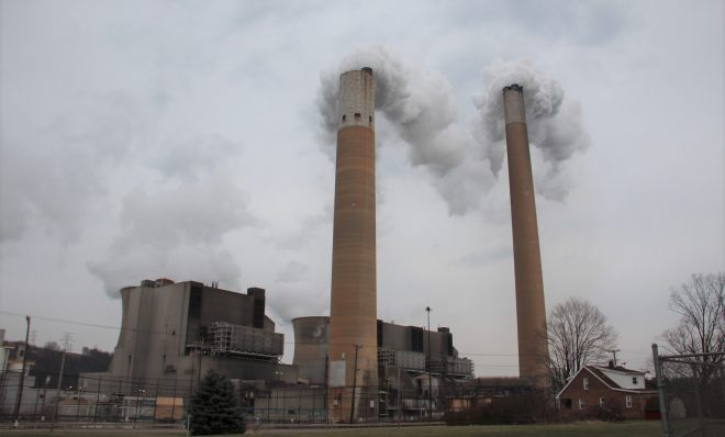 Bruce Mansfield coal-fired power plant in Shippingport, Pa., which was retired early in November 2019.