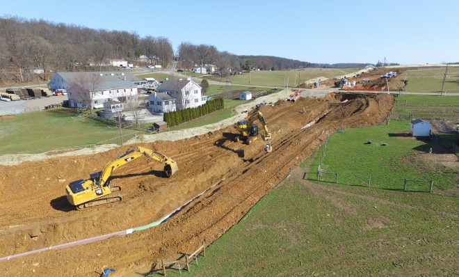 Atlantic Sunrise Pipeline construction in Lancaster County. (March 2018)