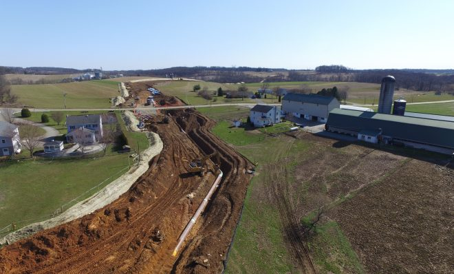 Atlantic Sunrise Pipeline construction in Lancaster County.