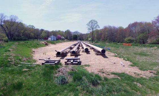 Mariner East 2 pipeline construction in Delaware County