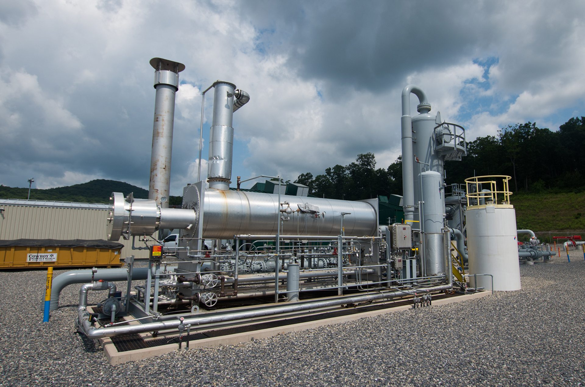 Methane leaks throughout the entire process of developing natural gas-- from wells and storage sites, to processing facilities and pipelines.