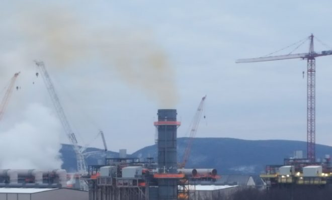 Pennsylvania environmental regulators are investigating health complaints after the Invenergy natural gas power plant in Jessup Pa. began spewing plumes of smoke this week. The company says the emissions are temporary and part of a planned commissioning process.