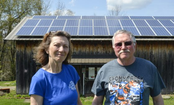 Cambria County residents Janice Eastbourn-Bloom and Rick Bloom installed solar panels on their barn rooftop in 2011.