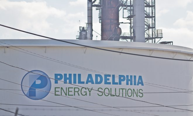 Philadelphia Energy Solutions' refinery.