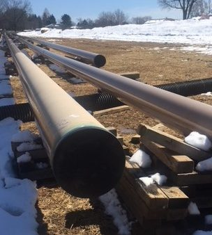 Pipelines for the Mariner East project are poised outside Bob Hoffman's home in Edgmont Township.