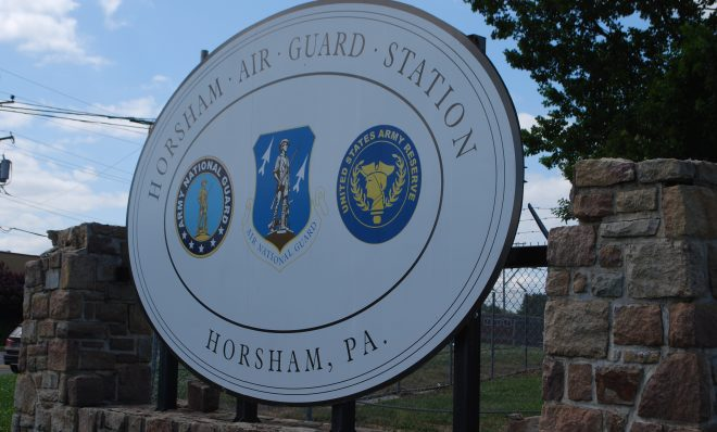 The Horsham Air Guard Station in Bucks County, Pa. where the use of PFAS chemicals in firefighting foam has been linked with contamination of local water supplies.