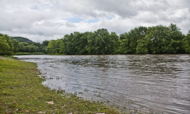 A view of the Delaware River in Monroe County.