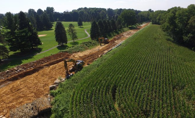 Mariner East 2 pipeline construction in Lebanon County August 24, 2018