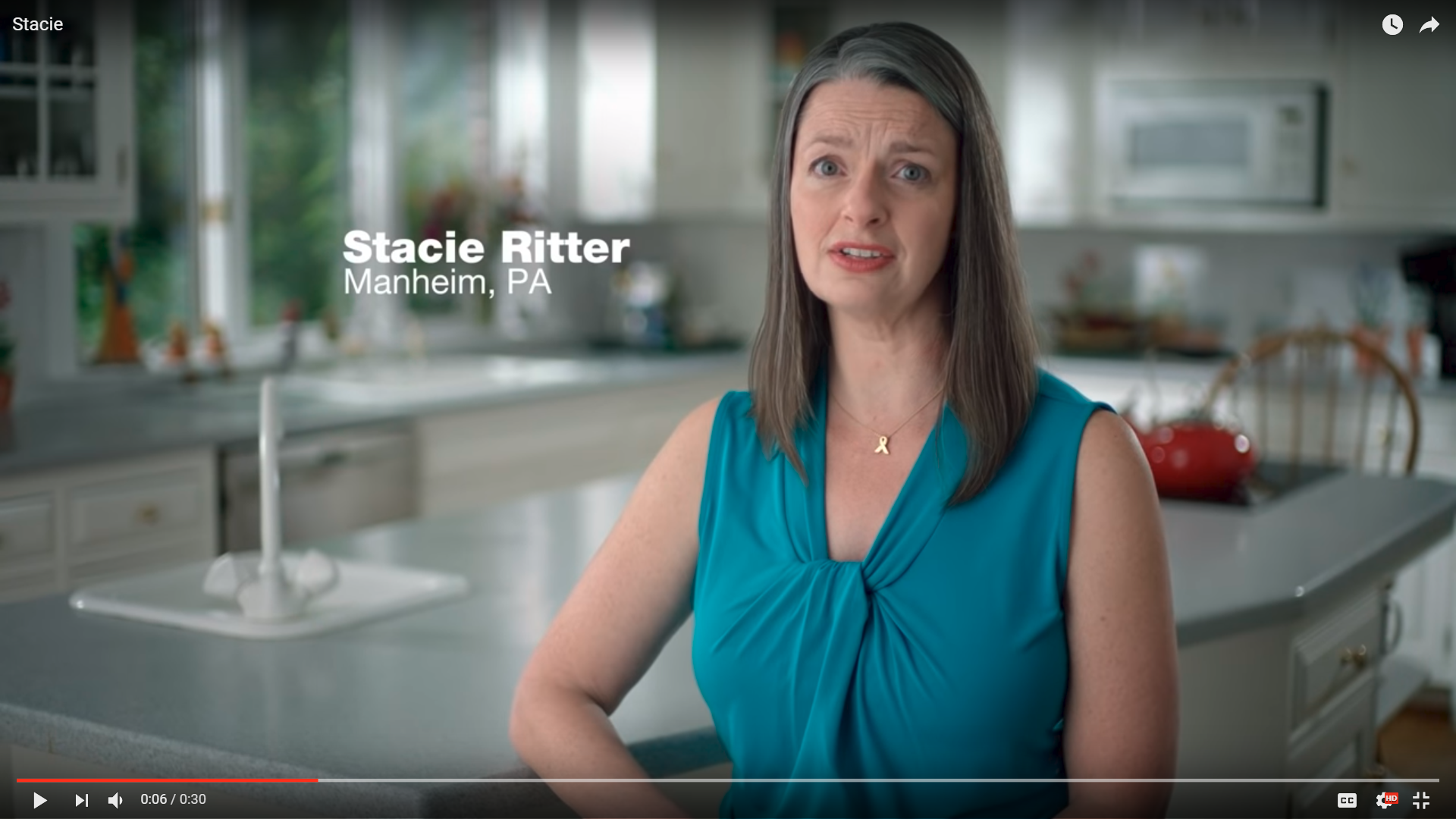 In this ad from the campaign of U.S. Sen. Bob Casey, mother Stacie Ritter speaks about her daughters.