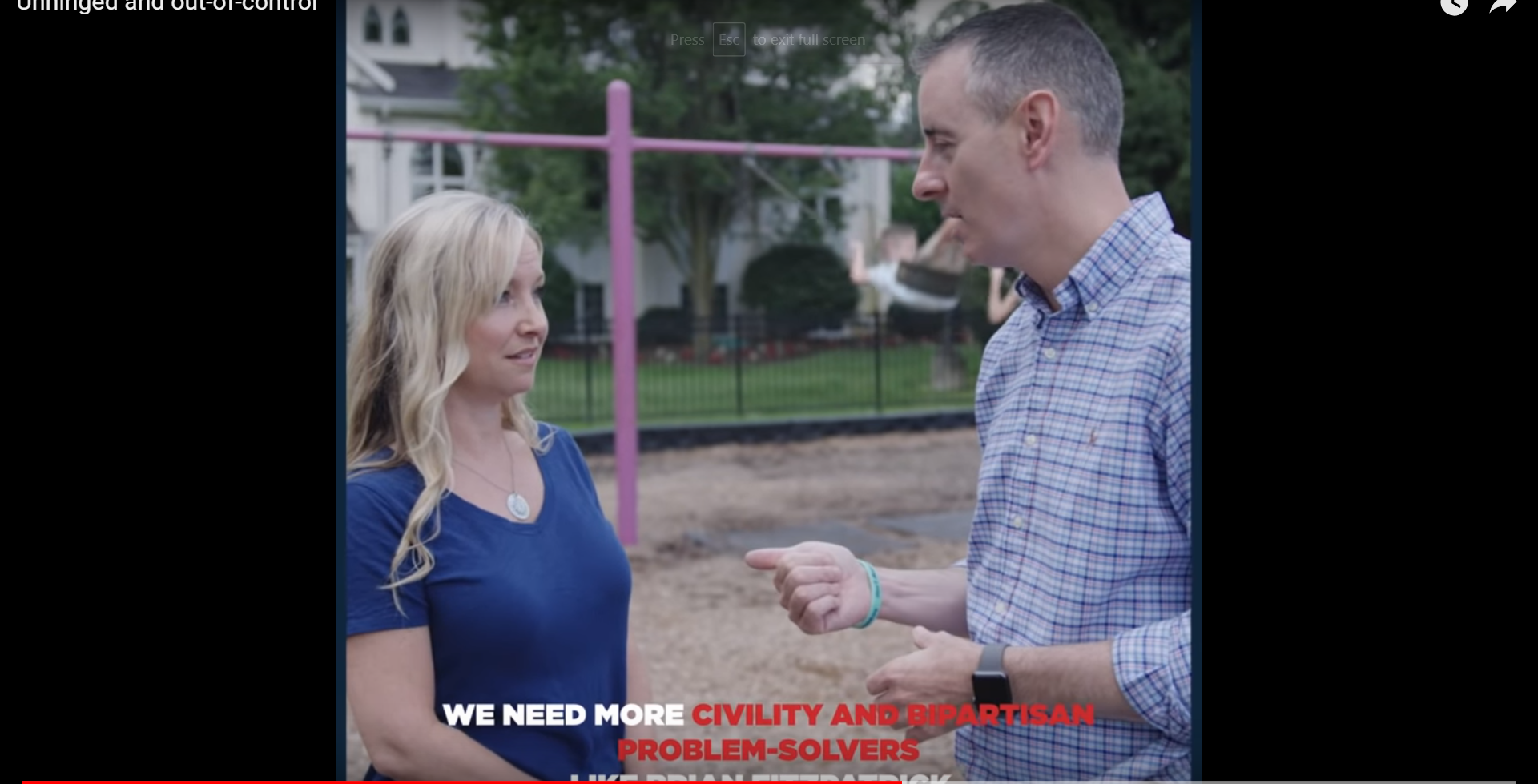 In this campaign ad, Republican Congressman Brian Fitzpatrick is seen with his sleeves rolled up.