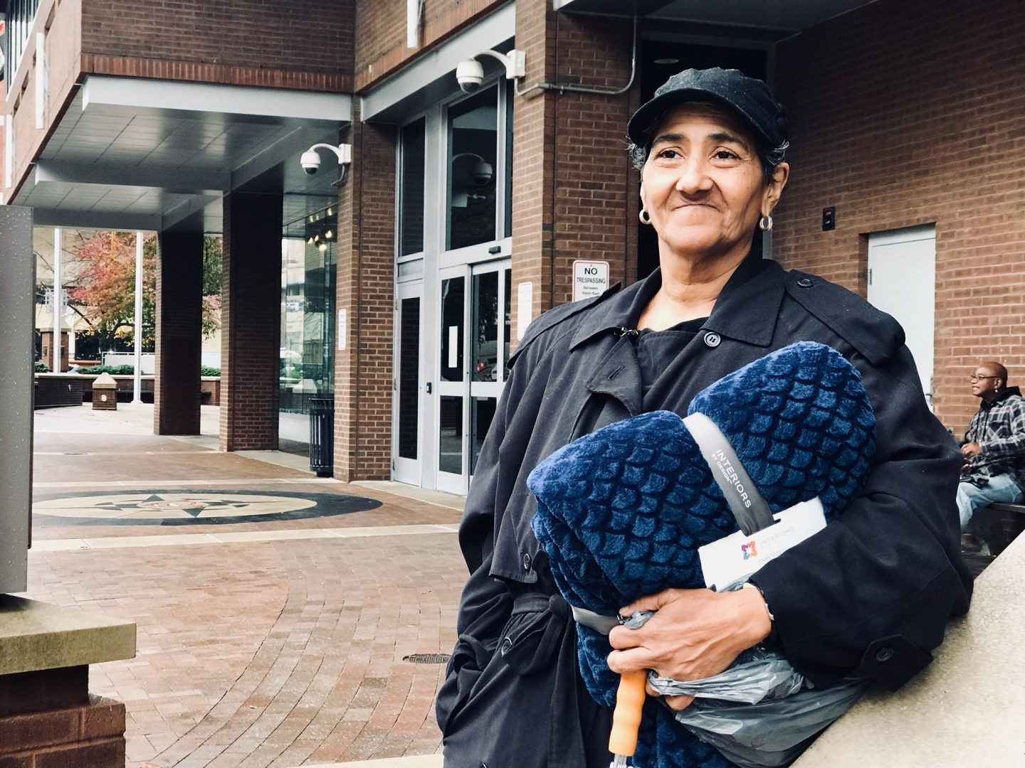"""FILE PHOTO: Hilda Sierra-Marrero is living homeless in Lancaster.  She has been diagnosed with multiple mental health disorders and finds it easier to live in her own """"bubble."""""""