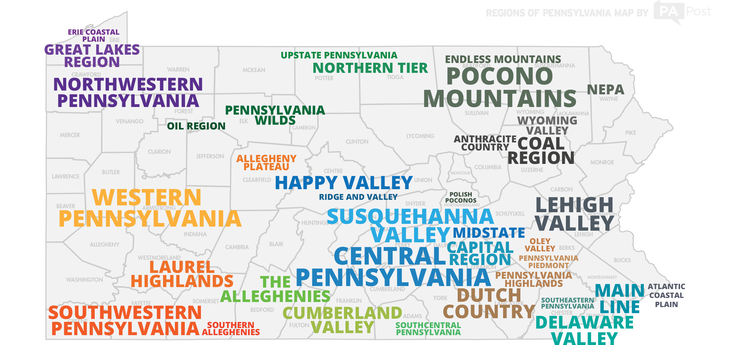 Picture of: The Regions Of Pennsylvania Defined By Pennsylvanians Witf