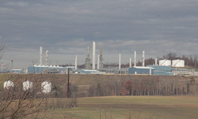 MarkWest's Houston gas processing plant in Washington County, Pa.