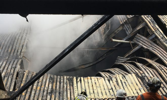A Dec. 24, 2018 fire damaged a section of US Steel's Clairton Coke Works. Photo: US Steel
