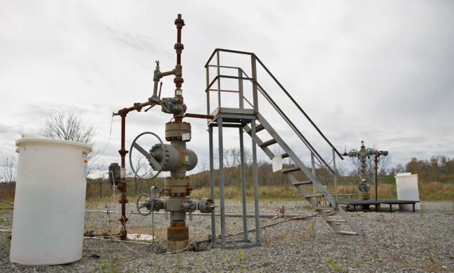 A natural gas well in Susquehanna County.