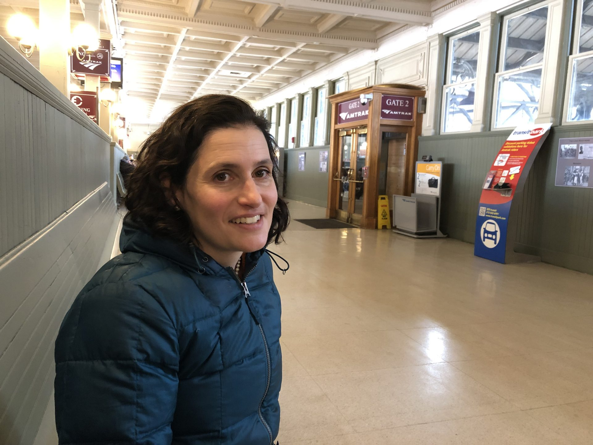 Claire Shubik-Richards, executive director of the Pennsylvania Prison Society, is seen on Wednesday, Feb. 26, 2019, at the Harrisburg Transportation Center. Her organization is based in Philadelphia but she was in the state capital for meetings.