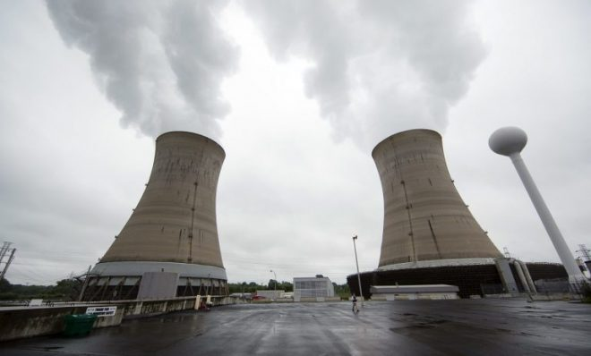 Cooling towers at the Three Mile Island nuclear power plant in Middletown.