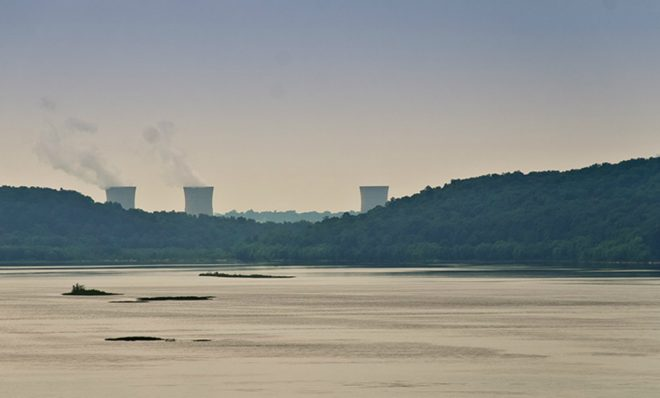 Three Mile Island nuclear power plant.
