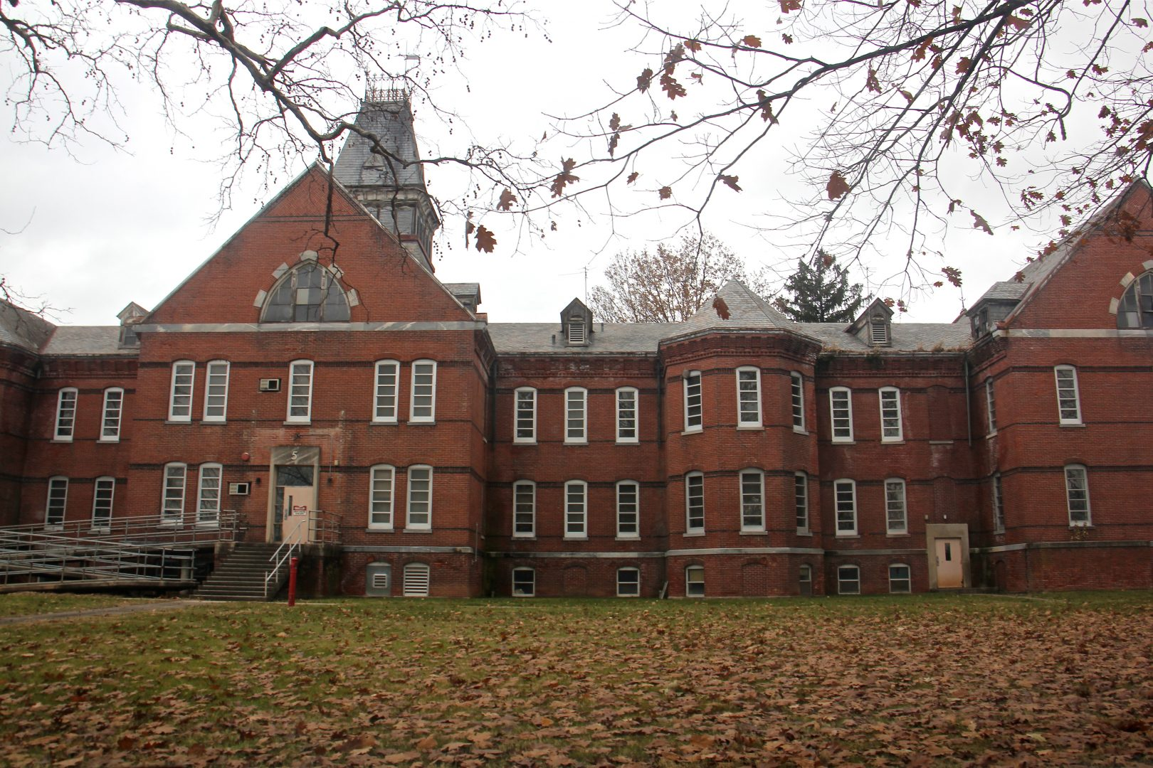 Building 5 on the grounds of Norristown State Hospital.