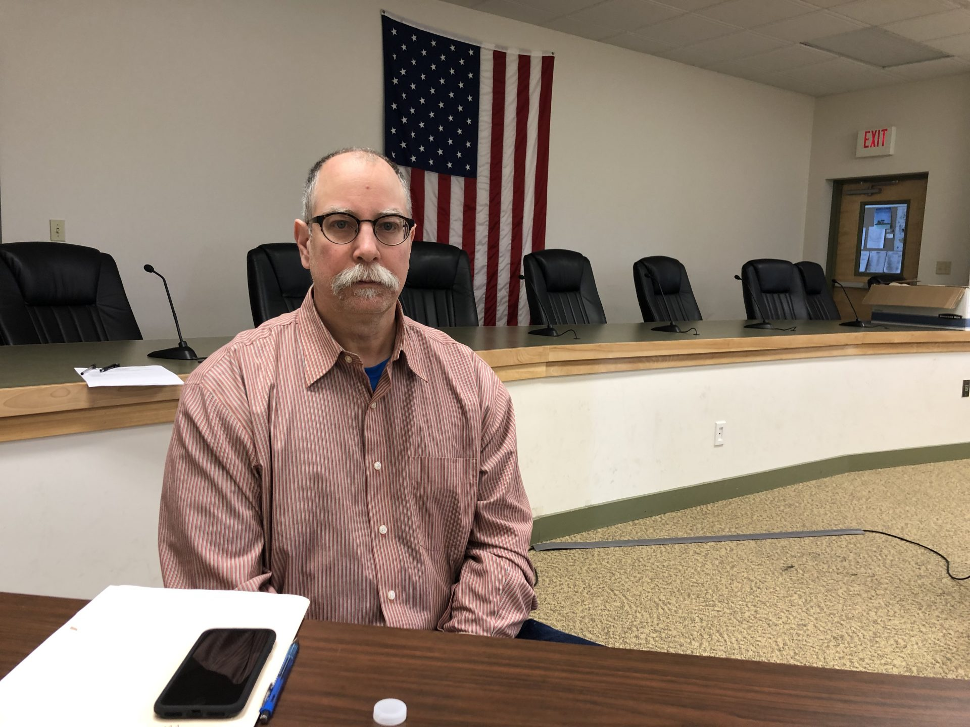 Steve Letavic, the township manager for Londonderry Township, is seen at the township building on March 1, 2019.