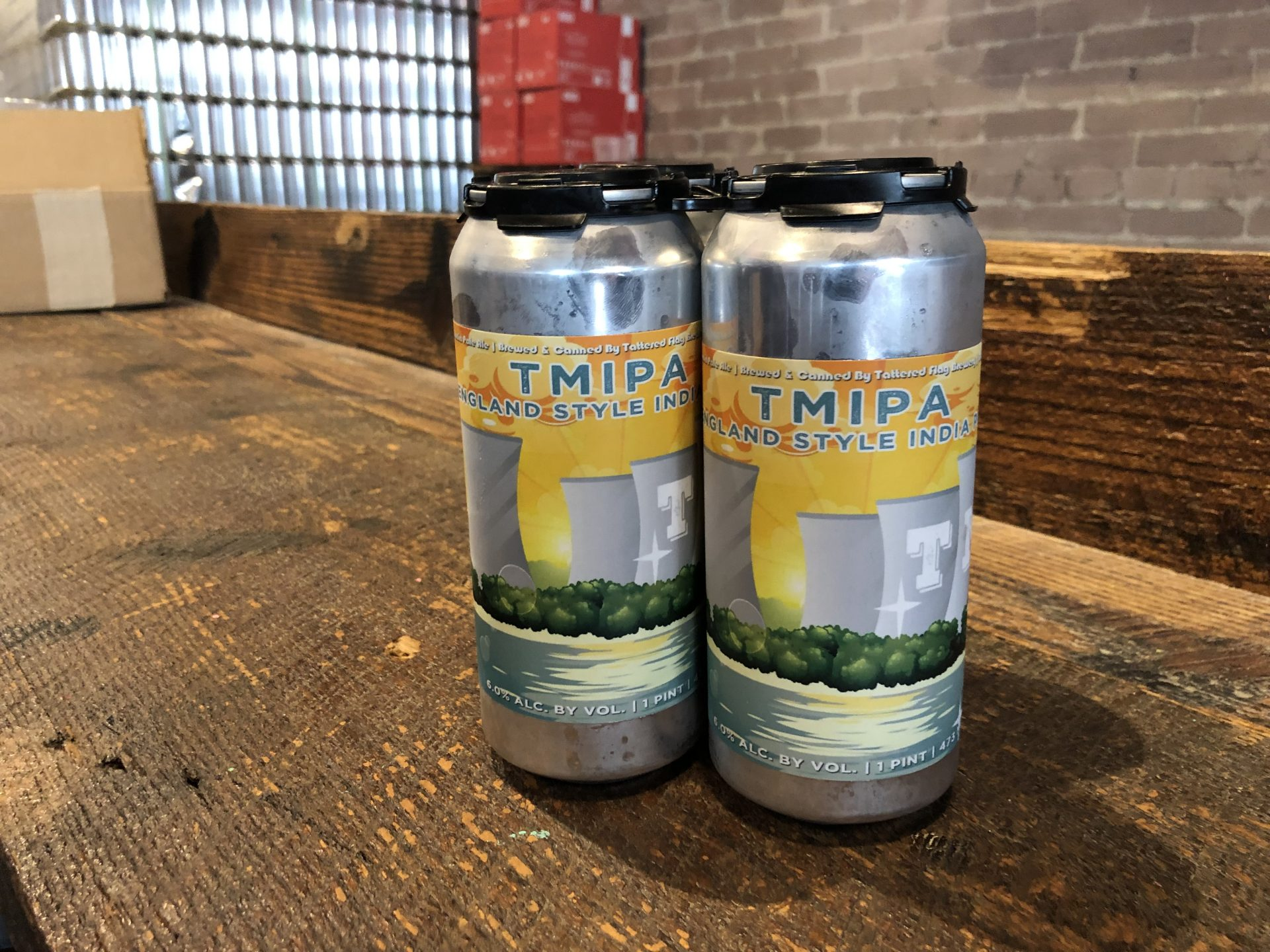 A beer -- seen on March 1, 2019 -- at Tattered Flag Brewery & Still Works is named after the Three Mile Island Nuclear Generating Station.