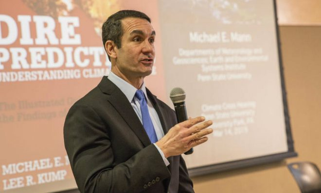 Pennsylvania Auditor General Eugene DePasquale hosted a public hearing on how the state is responding to climate change on Penn State's University Park campus on March 14, 2019. It's the first of three hearings DePasquale plans.