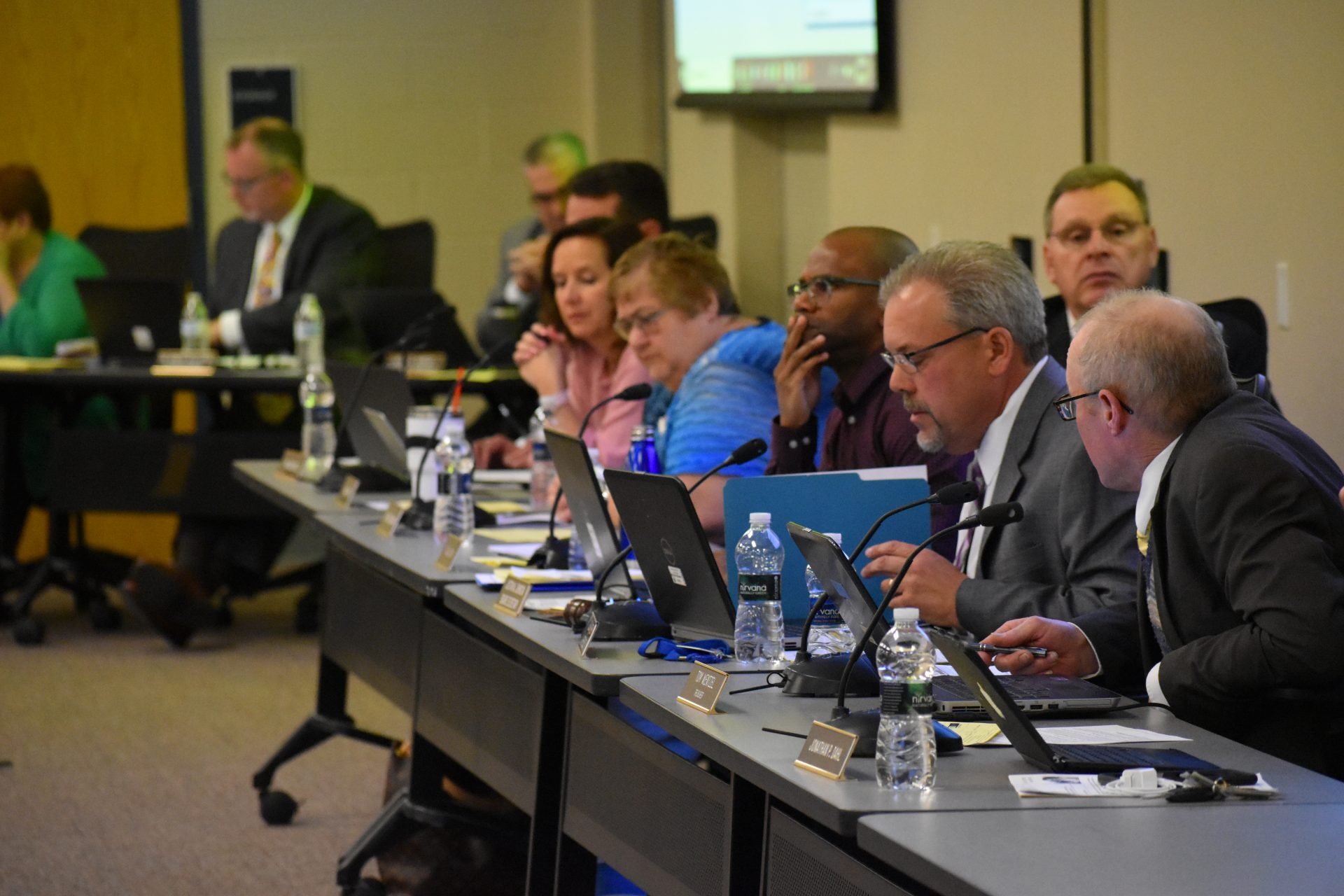Members of the Eastern Lancaster County school board voted on a new student privacy policy on April 15, 2019.