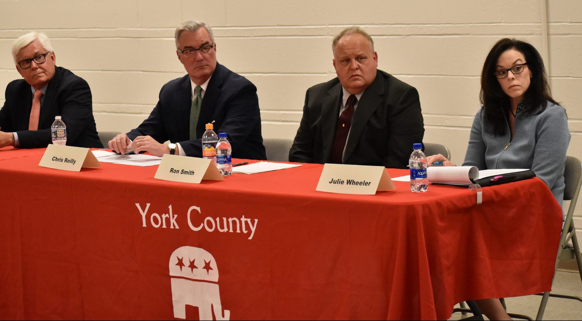 Four Republican candidates for York County commissioner participated in a debate on April, 29, 2019. They are, from left to right, Steve Chronister, Chris Reilly, Ron Smith and Julie Wheeler.