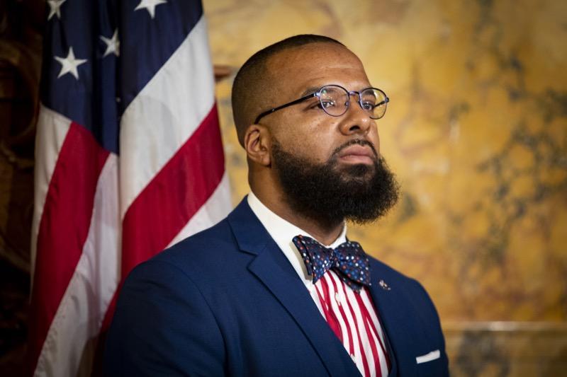 Pennsylvania's new Secretary of Pardons Brandon Flood in Harrisburg on Monday.