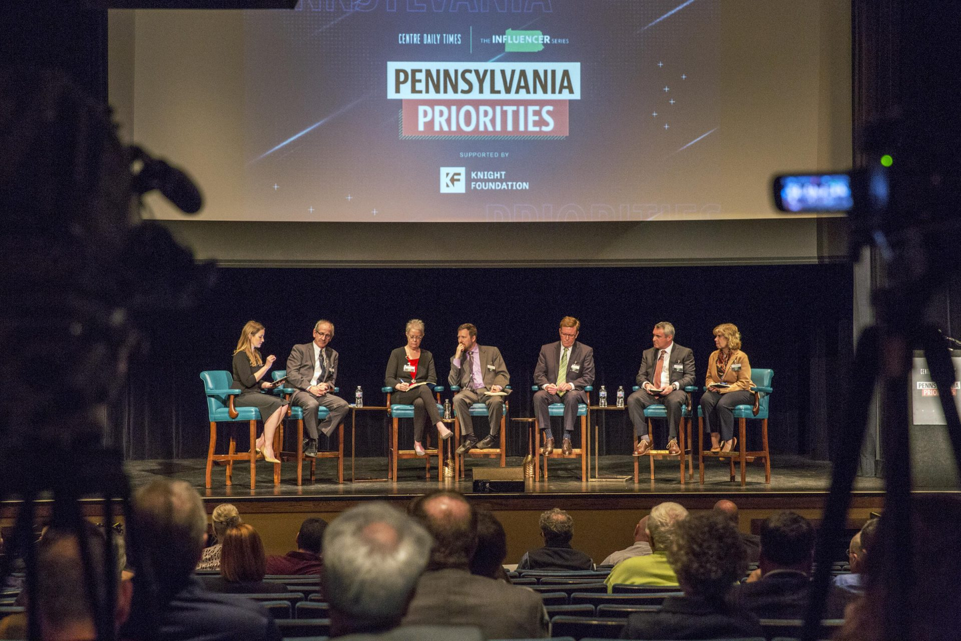 Panelists discussed potential solutions to the rural broadband crisis as a part of the Influencers Project hosted by the Centre Daily Times at the State Theatre.
