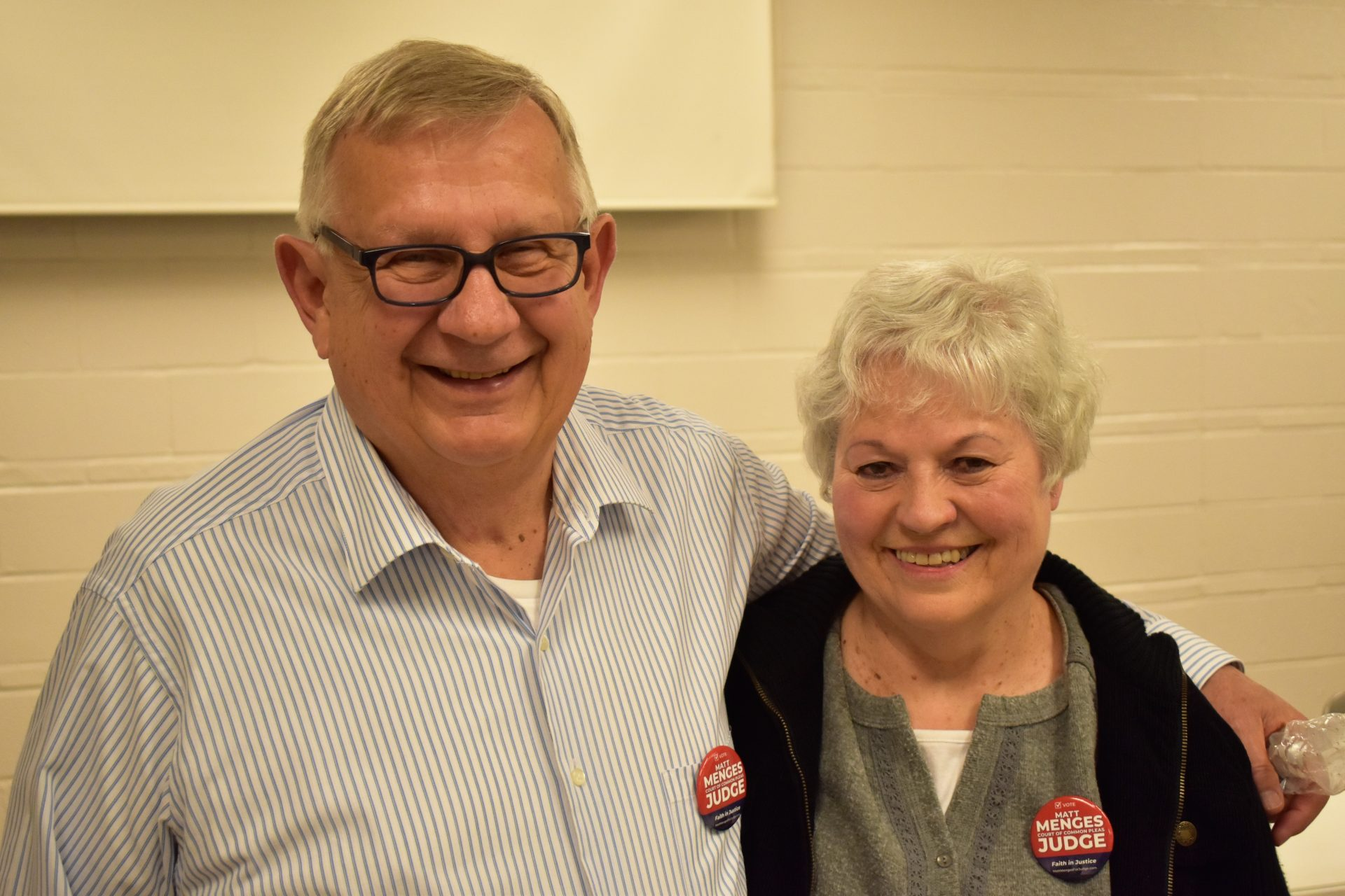Harold Anstine and his wife, Dorrie, attended a debate hosted by the Republican Club of York County on April 29, 2019.