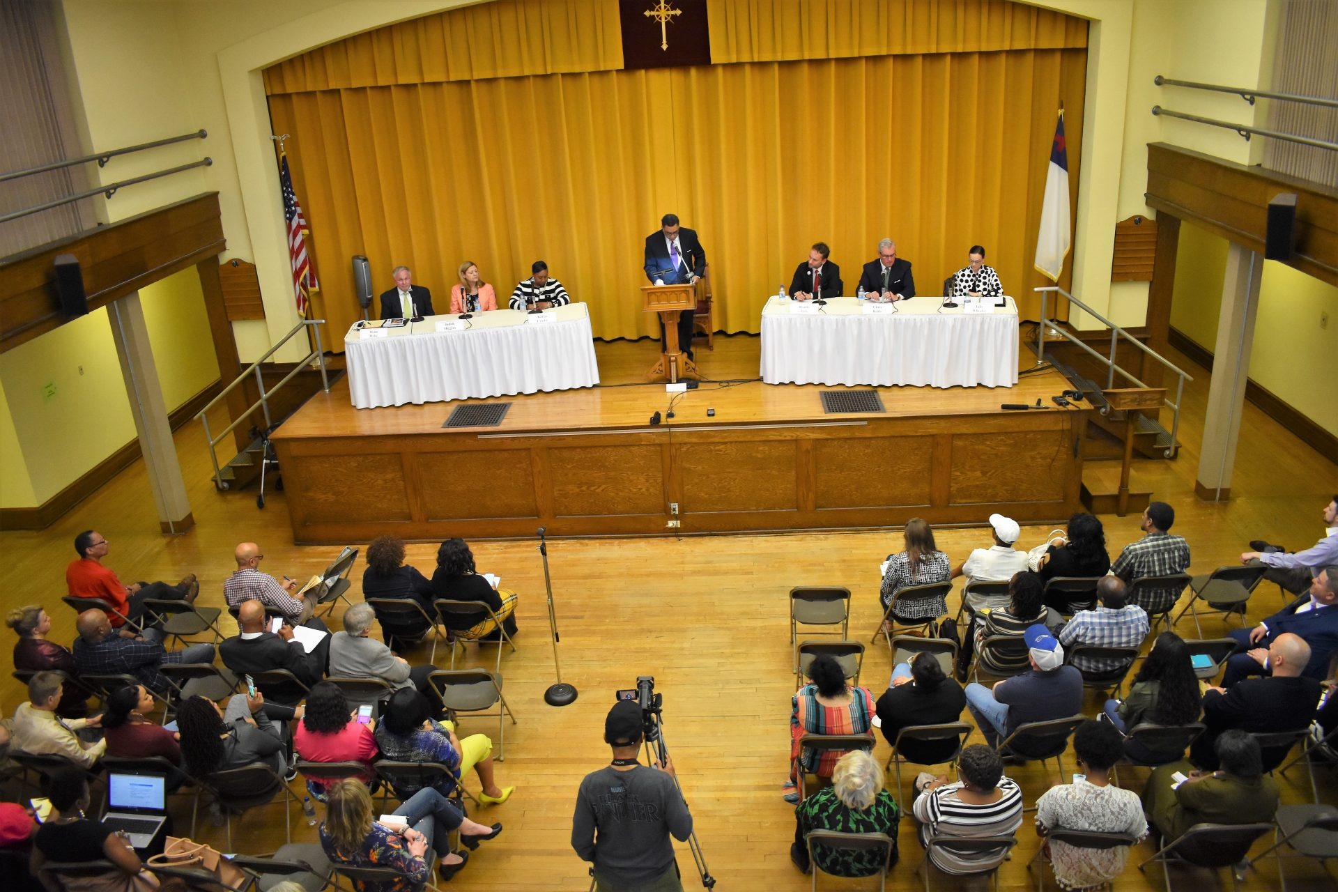 Six York County commissioner candidates participate in a forum in York on April 9, 2019. The event was organized by the African American Leadership Roundtable II.