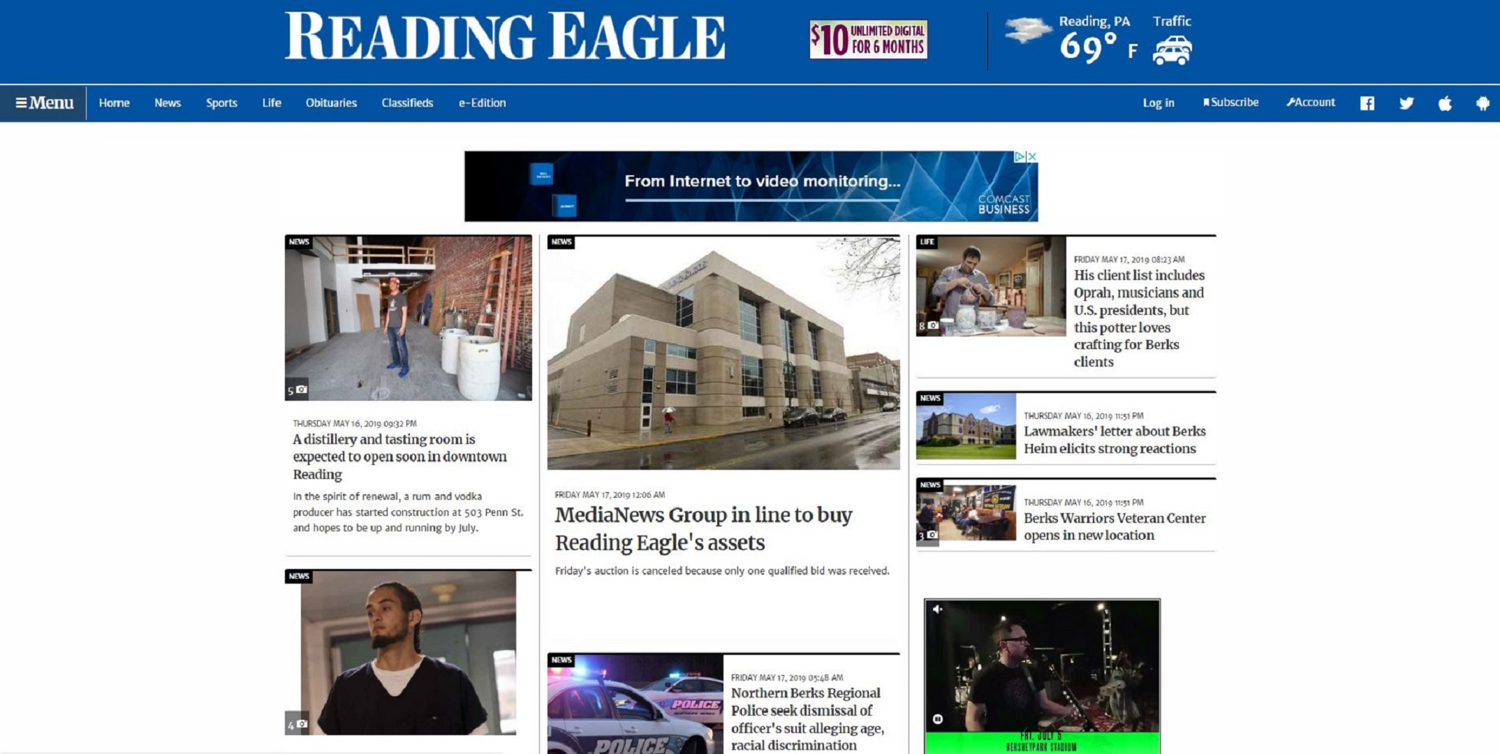 MediaNews Group stands as lone bidder to buy Reading Eagle