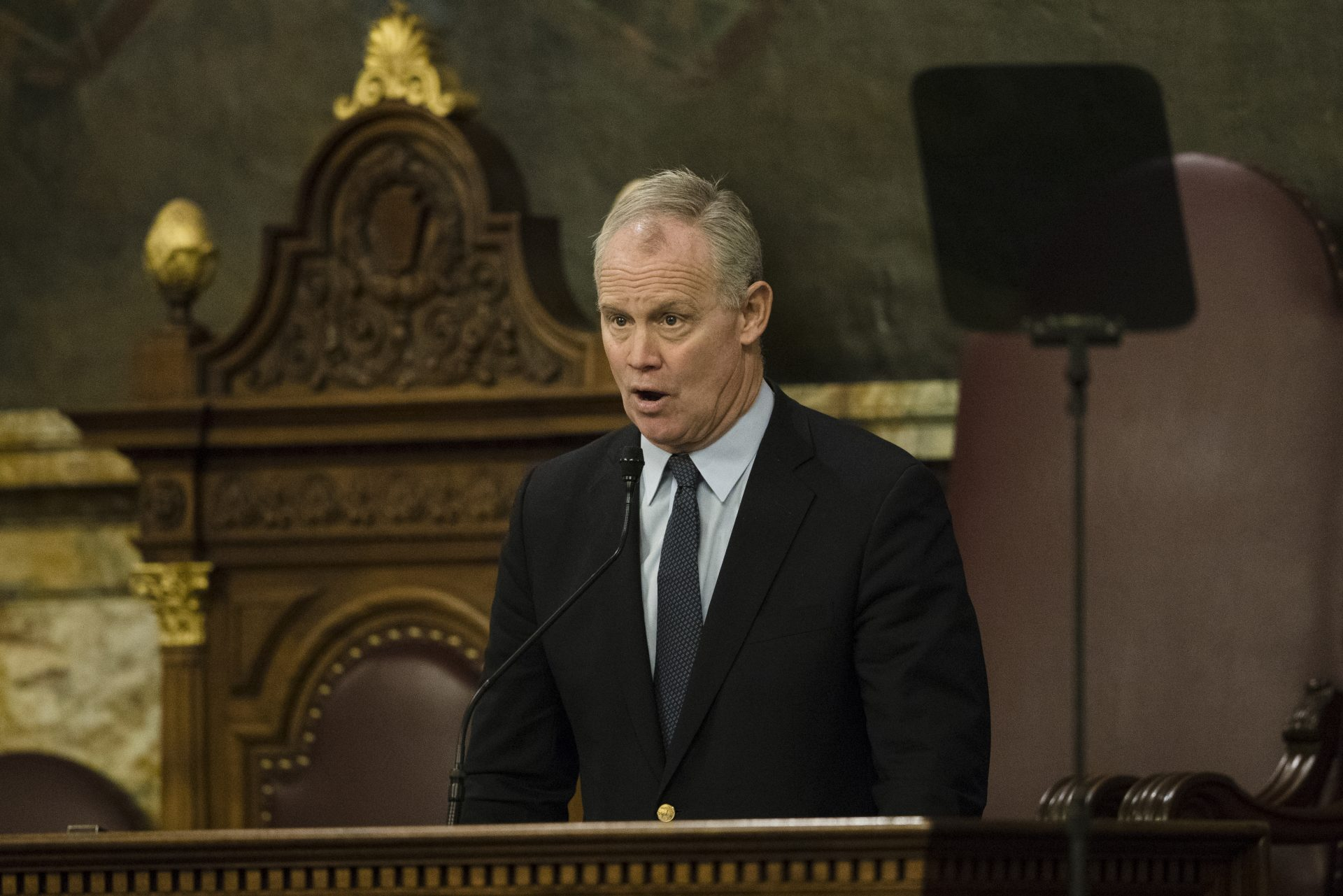 Pennsylvania House Speaker Mike Turzai, R-Allegheny, speaks in Harrisburg, Pa., Tuesday, Feb. 5, 2019.