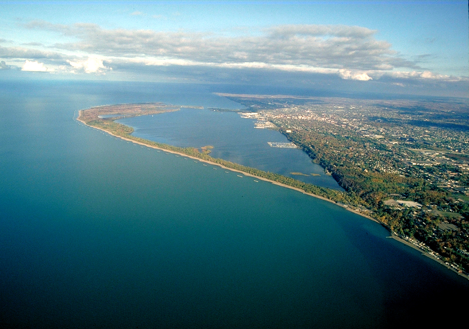 Lake Erie at Presque Isle off the city of Erie.